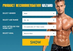 product recommandation wizard