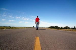 man walking to lose weight