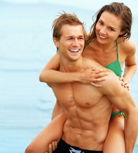 couple in a beach - Great bodies