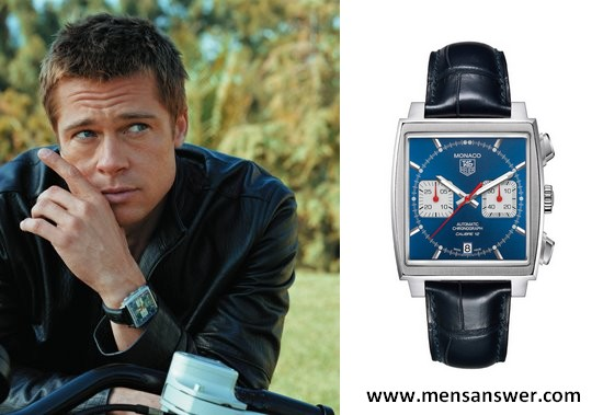 tag heuer watch brad pitt