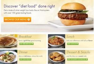 menu nutrisystem