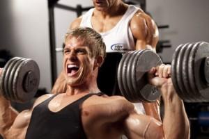 screaming guy while training