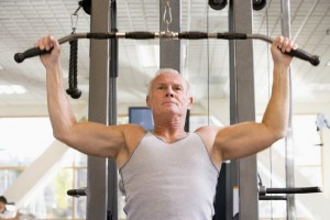 old man in the gym