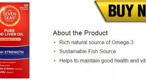 Seven Seas Pure Cod Liver Oil + Omega 3