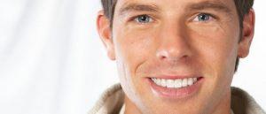 man with white smile