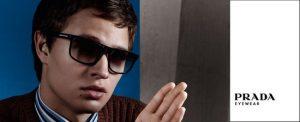 Prada man wearing sunglasses