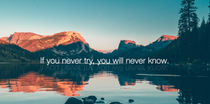 you never know
